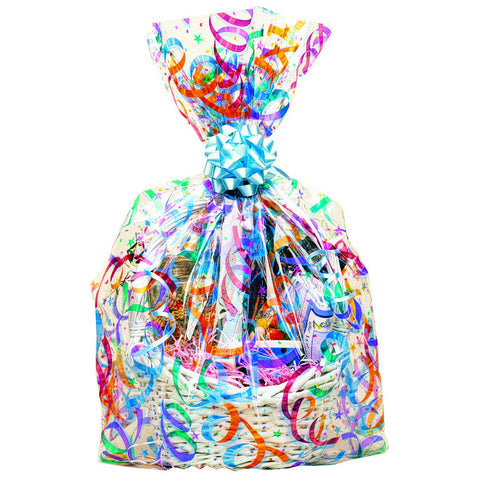 Party Streamers Cello Basket Bag