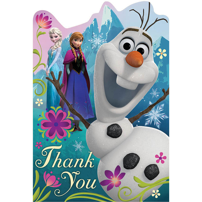 Frozen Thank You Notes