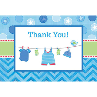 Shower With Love Boy Postcard Thank You Notes (8ct)