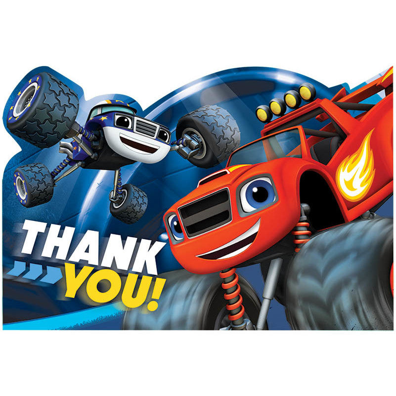 Blaze and The Monster Machines Postcard Thank You Notes (8ct)