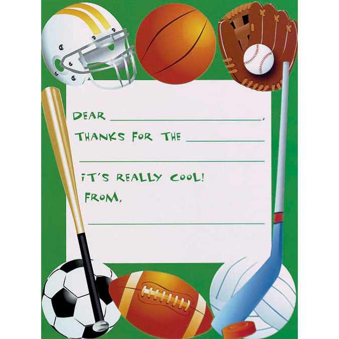 Game Day Thank You Notes Us Novelty