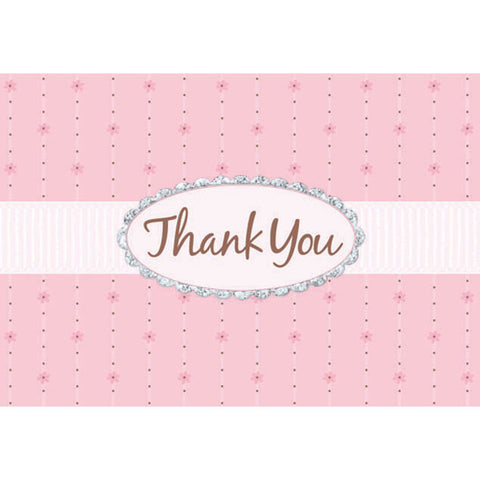 Pink Passion Giltter Thank You Notes
