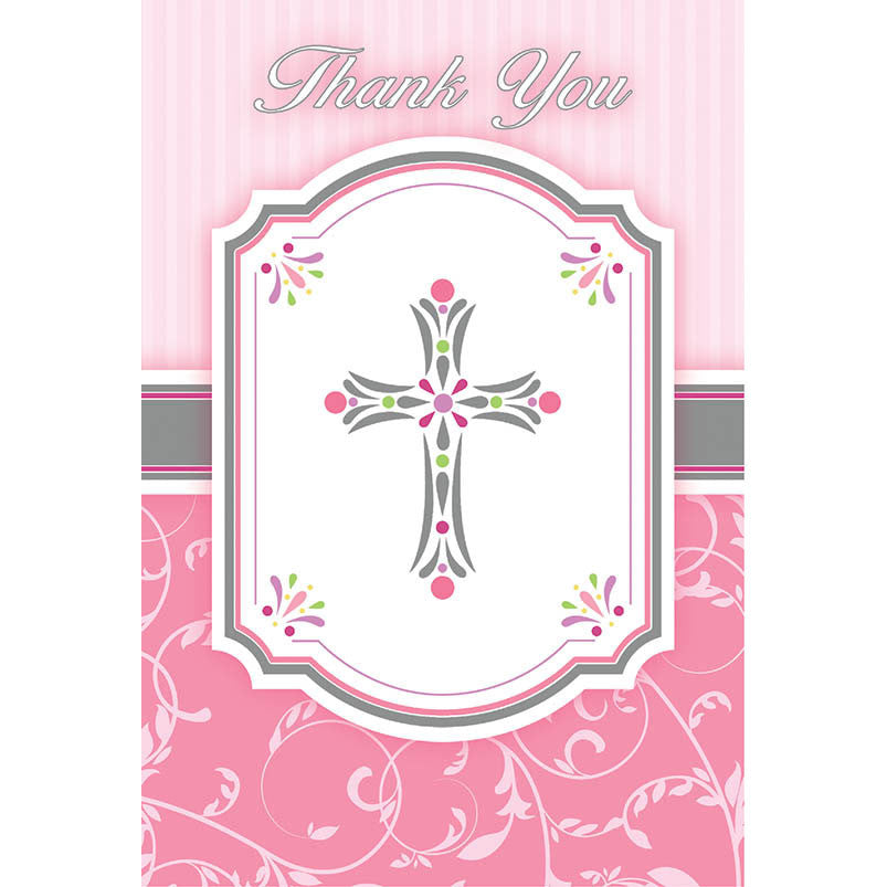 Blessing Pink Thank You Notes