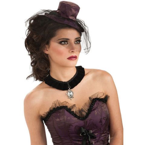 Purple Mini Saloon Girl Hat