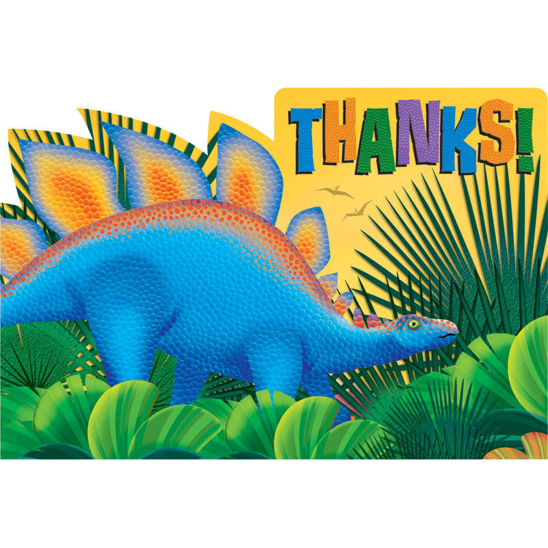 Prehistoric Party Thank You Notes