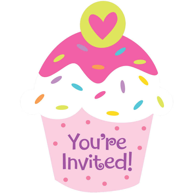 Cupcake Party Invitations Us Novelty