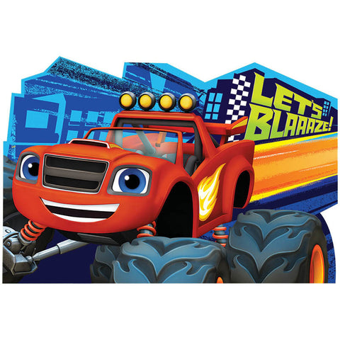 Blaze and The Monster Machines Postcard Invite (8ct)