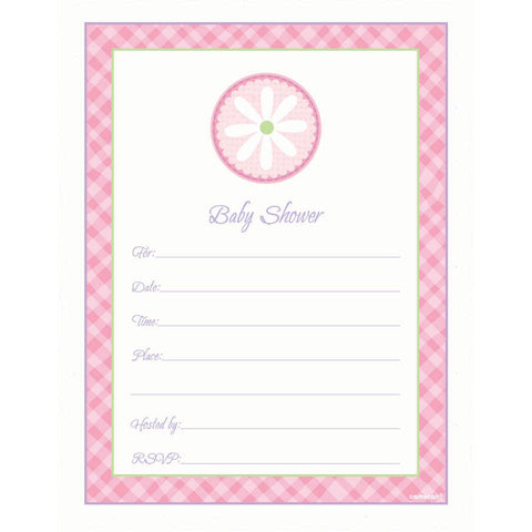Baby Shower Pink Invitations