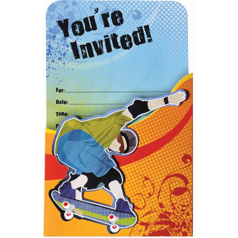 Born To Skate Novelty Invites (8ct)