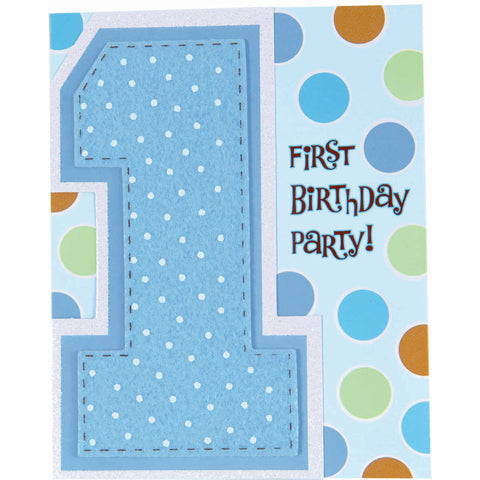 1st Birthday Boy  Novelty Invitations