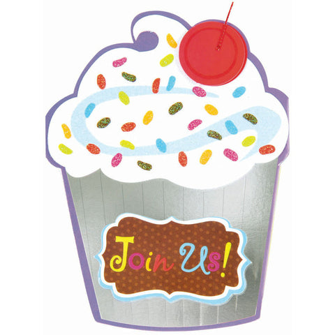 Cupcake Crazy Novelty Invites (8ct)