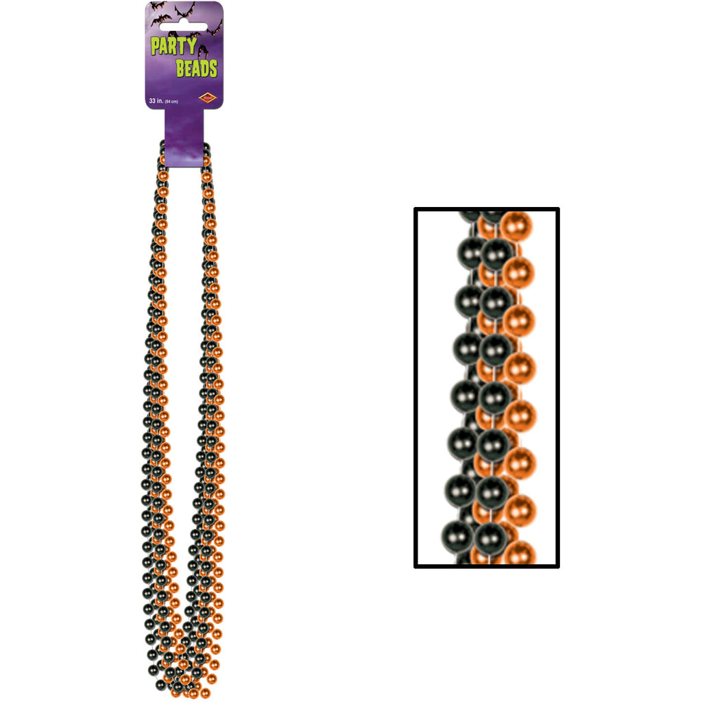 Orange and Black Party Beads