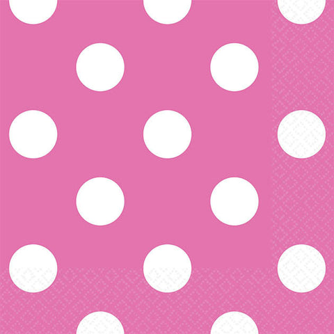 Bright Pink Dots Beverage Napkins (16ct)