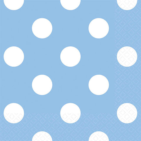 Pastel Blue Dots Beverage Napkins (16ct)