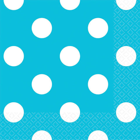 Caribbean Blue Dots Beverage Napkins (16ct)