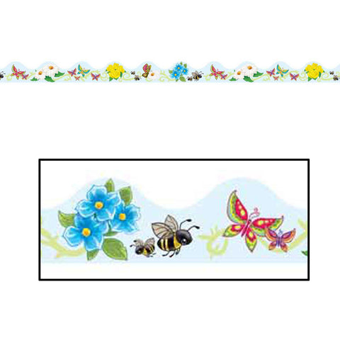 Butterflies & Flowers Border Trim