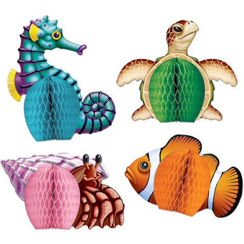"5.5"" Sea Creatures Mini Centerpieces (4ct)"