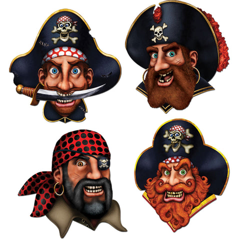 Pirate Crew Cutouts (4 ct)