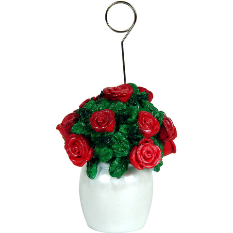 Rose Bouquet Photo/Balloon Holder
