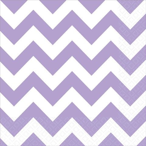 Lavender Chevron Luncheon Napkins (16ct)