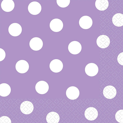 Lavender Dots Luncheon Napkins (16ct)