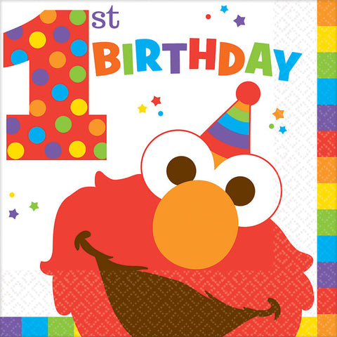 Elmo Turns One Luncheon Napkins (16 ct)