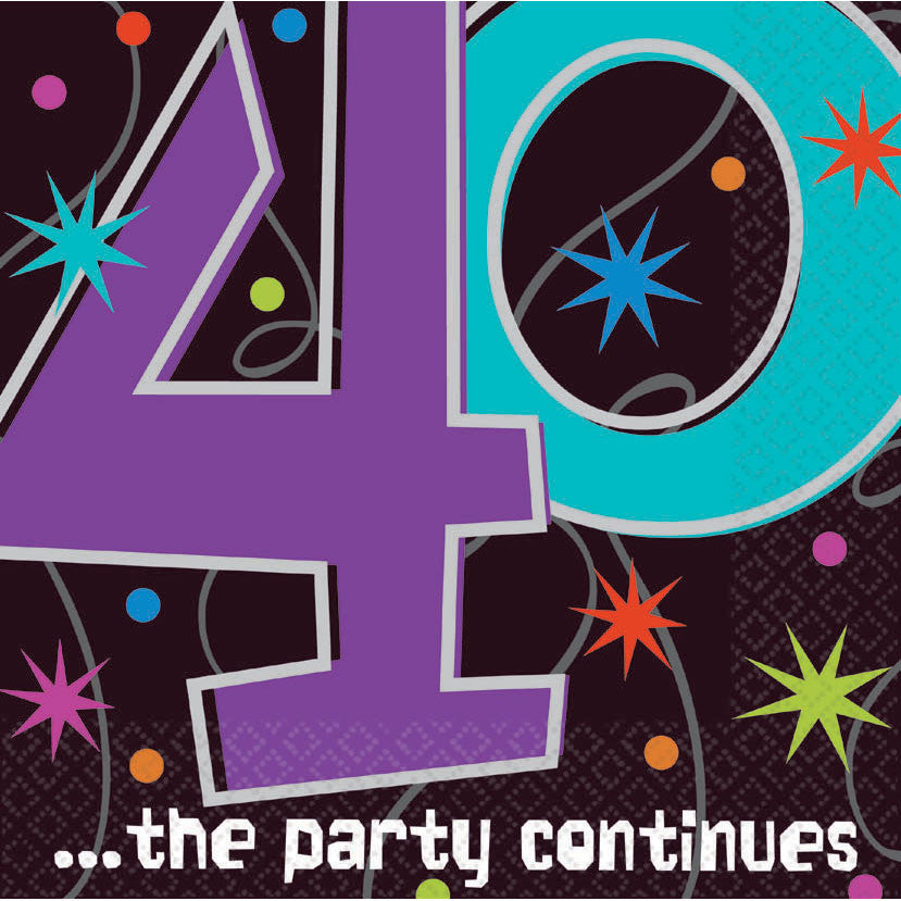 40 The Party Continues Luncheon Napkins (16ct)