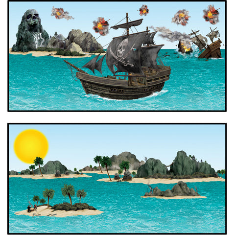 Pirate Ship & Island Props