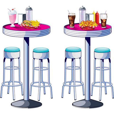 Table and Stools Scene Setter