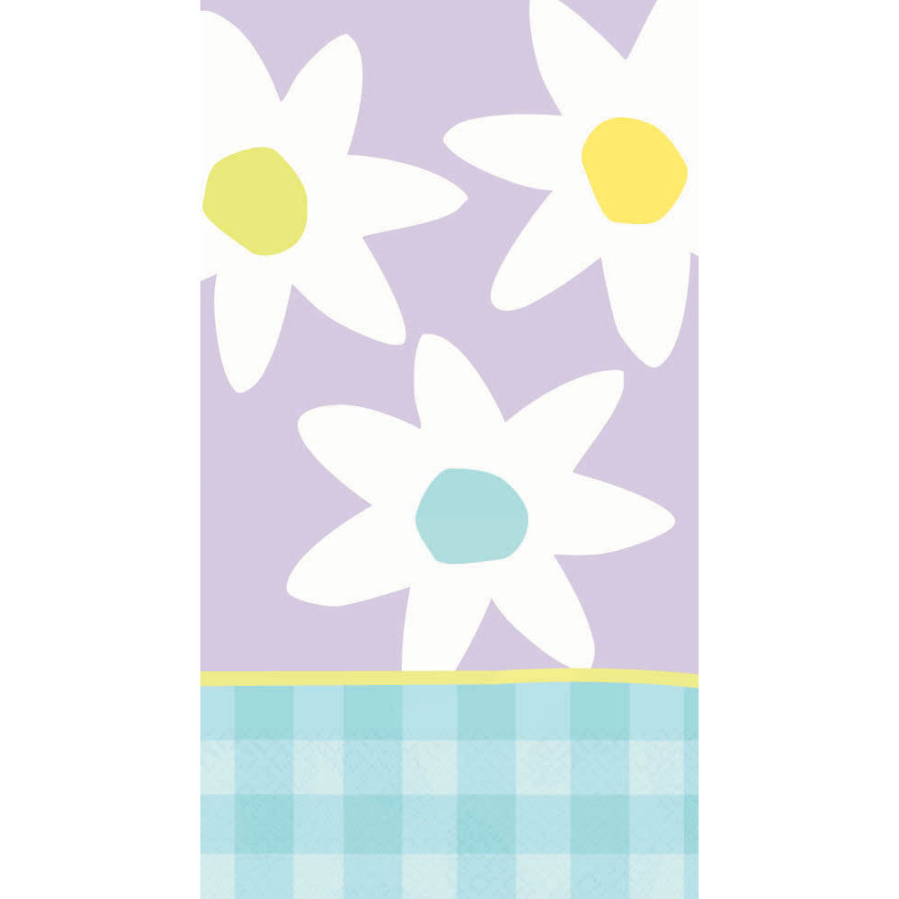 Gingham Daisy Cool Guest Towel Napkins (16ct)