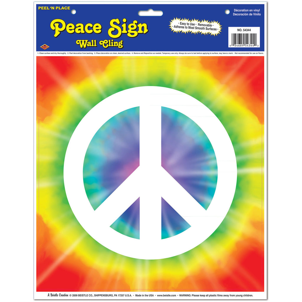 Peace Sign Peel 'N Place