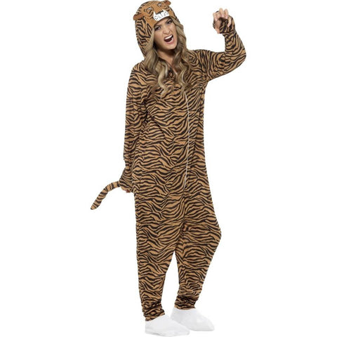 "Adult's Tiger Costume Medium Chest 38-40"", Waist 32-34"", Inseam 32.75"""