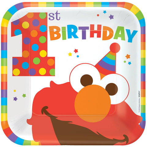 Elmo Turns One Dinner Plates (8 ct)