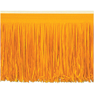 10' Orange Tissue Fringe Drape