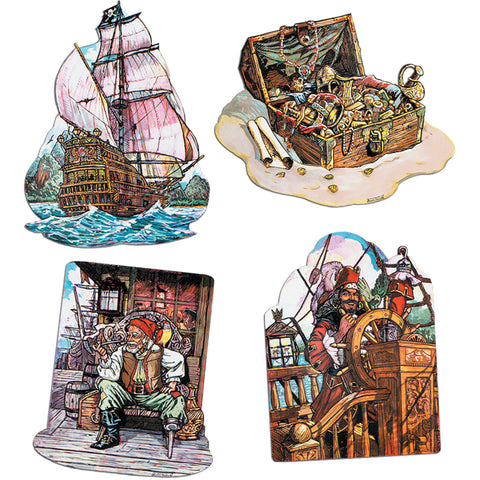 Pirate Ship Cutouts (4 ct)