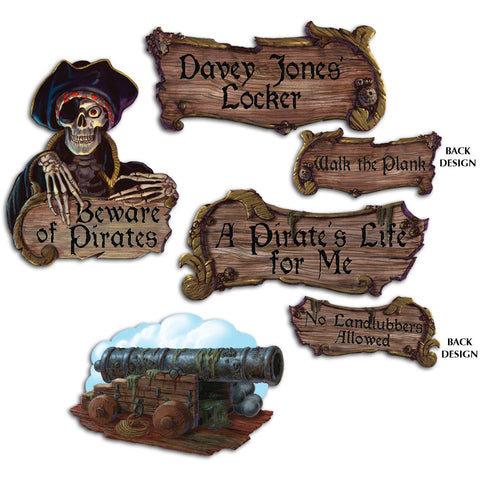 Pirate Cutouts (4 ct)