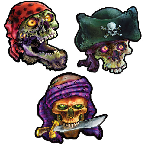 Pirate Skull Cutouts