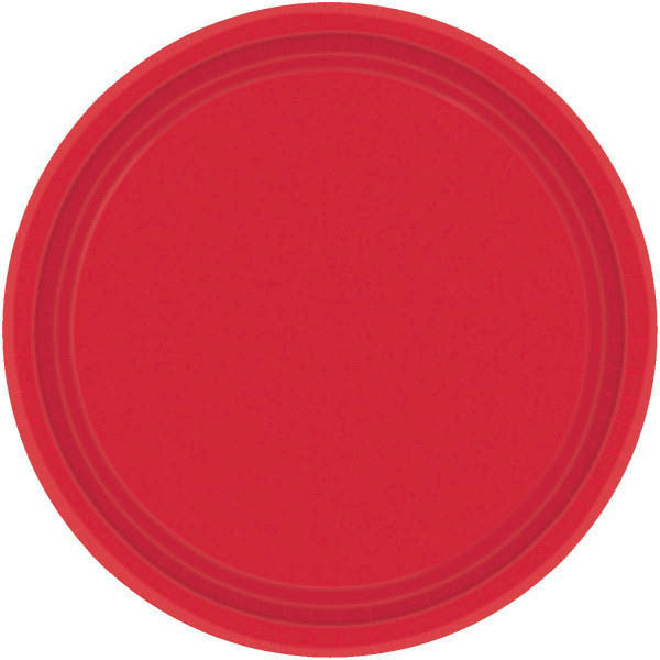 Apple Red Paper Dinner Plates (20ct)