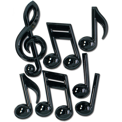 "Plastic Musical Notes - 13"" (7 ct)"
