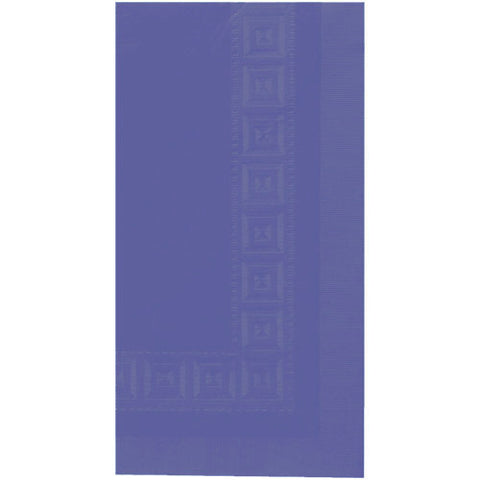 New Purple Embossed Rectangle Paper Tablecover