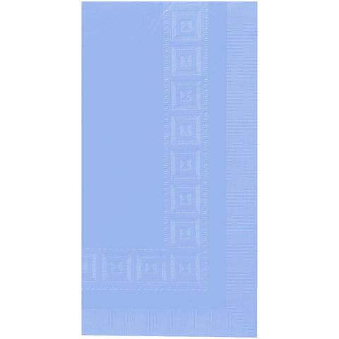 Pastel Blue Embossed Rectangle Paper Tablecover