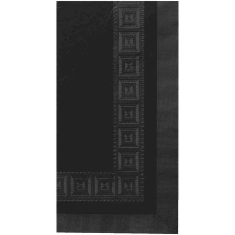 Jet Black Embossed Rectangle Paper Tablecover