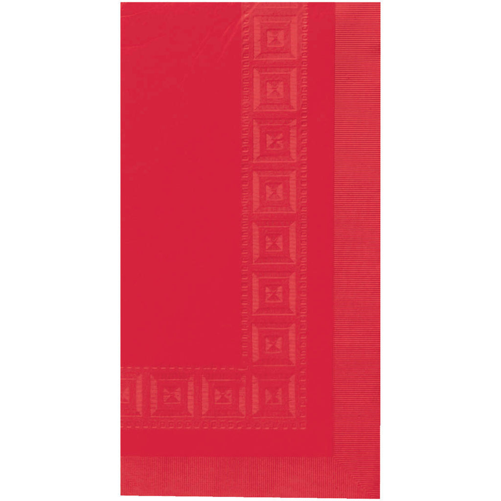 Apple Red Embossed Rectangle Paper Tablecover