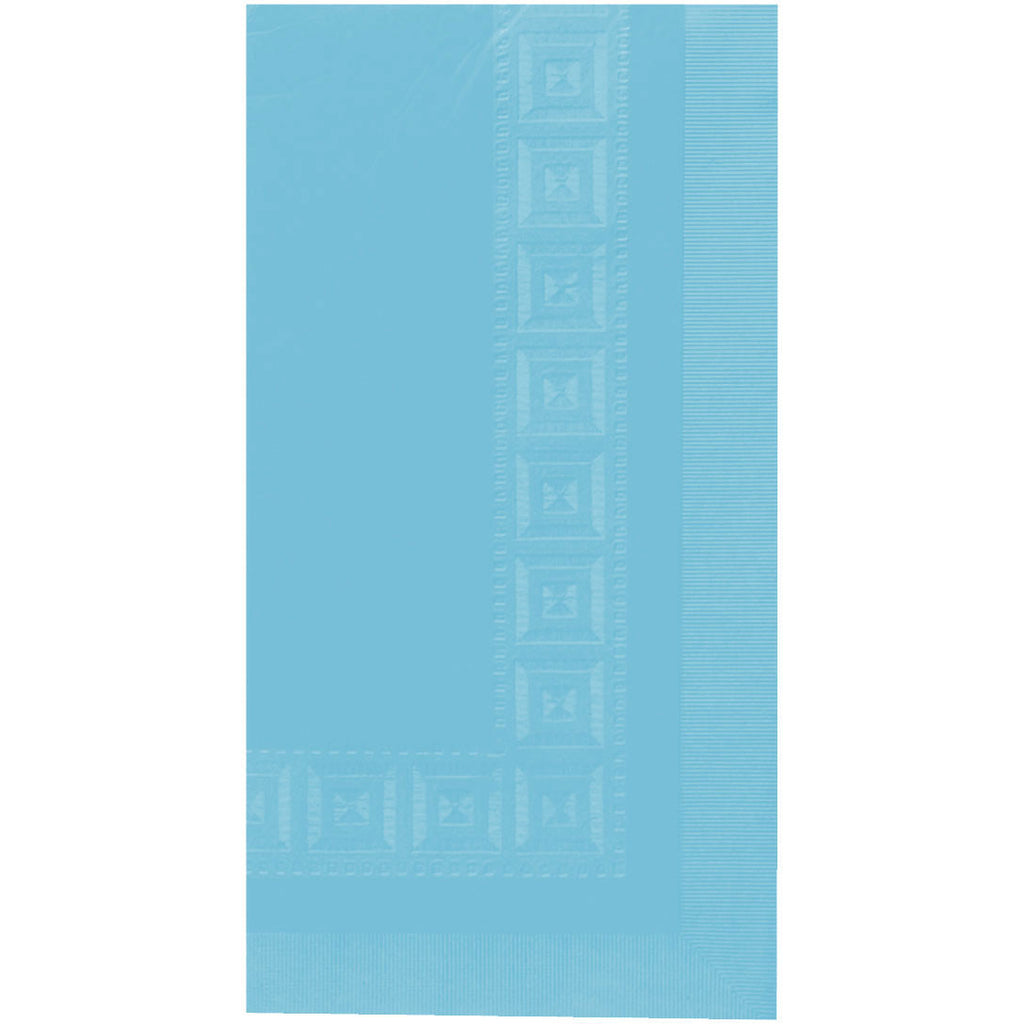 Caribbean Blue 3 Ply Paper Rectangle Tablecover