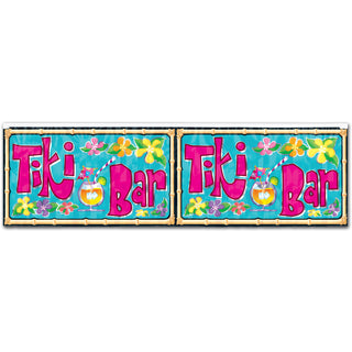 Flame Retardant Tiki Bar Fringed Banner