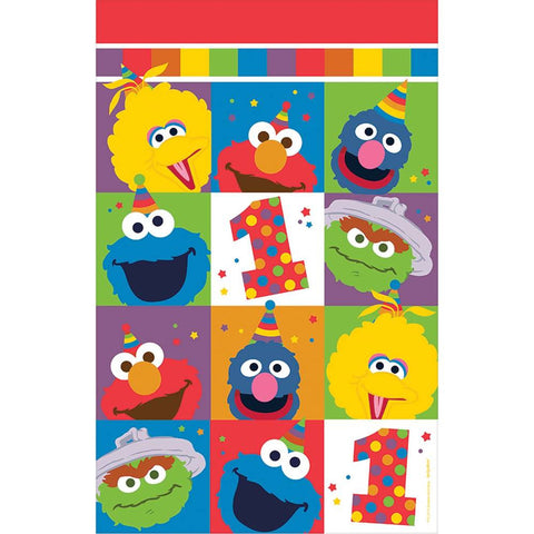Elmo Turns One Plastic Tablecover