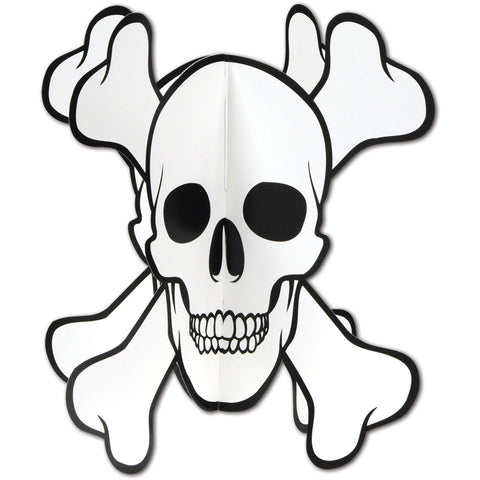 3-D Skull and Crossbones Centerpiece
