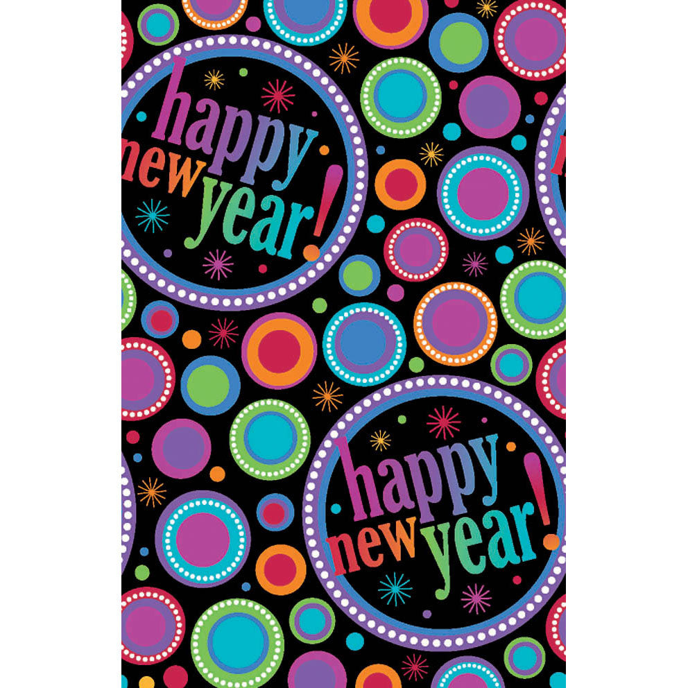 Modern New Years Plastic Tablecover