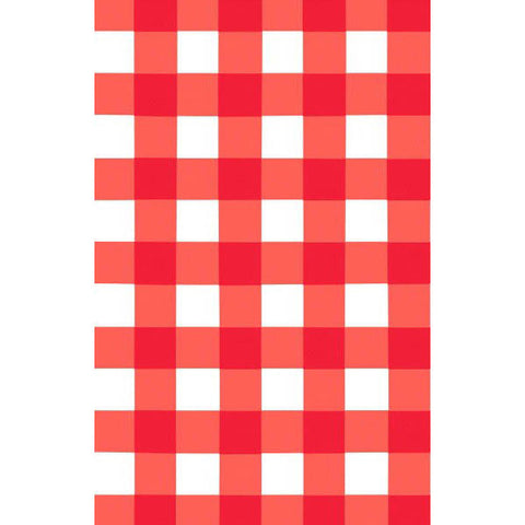 American Summer Red Gingham Tablecover