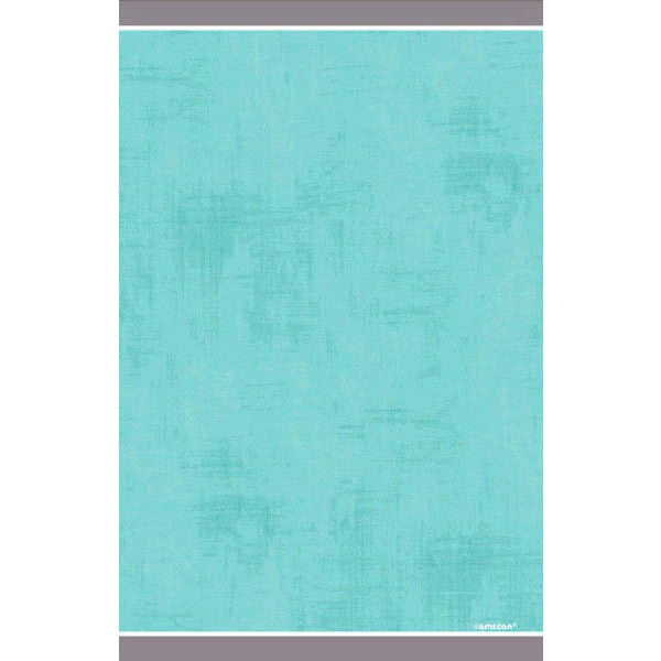 Turquoise Border Paper Table Cover